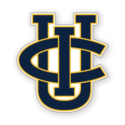 CollegeFanGear UC Irvine Small Decal 'Official Logo'