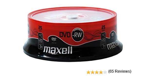 Maxell DVD-RW 25 Pack 4,7 GB 25 Pieza(s): Amazon.es: Electrónica