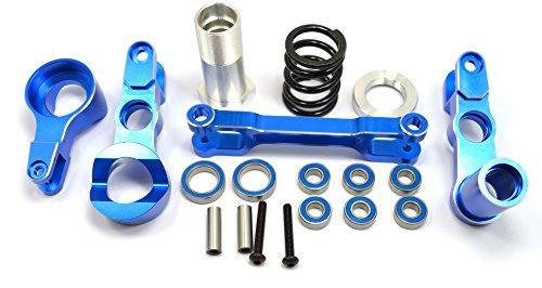 Dhawk Racing Aluminum Steering Bellcrank Kit Blue /w Bearing For Traxxas X-Maxx ()