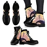 Nightmare Before Christmas Zero Wome's Leather Boots, Christmas Gift for Her Birthday Outdoor Young Youth Winter Casual Classic Wear