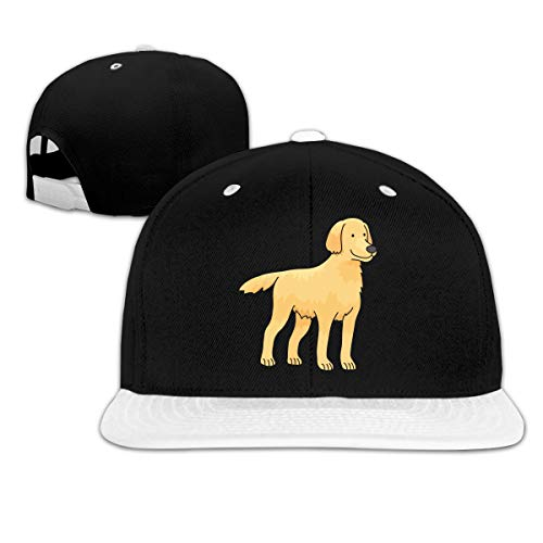 Golden Retriever Adjustable Plain Baseball Cap Hip-Pop Hat Black