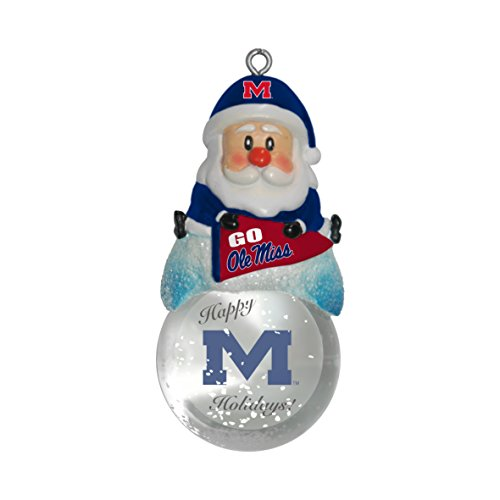 Ole Miss Rebels Santa (NCAA Mississippi Ole Miss Rebels Snow Globe Ornament)