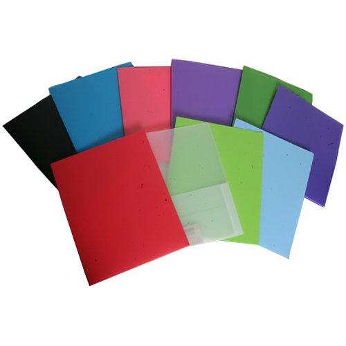 Clear Heavy Duty Plastic 2 Pocket Presentation Folder (9x12) - 108 folders per box