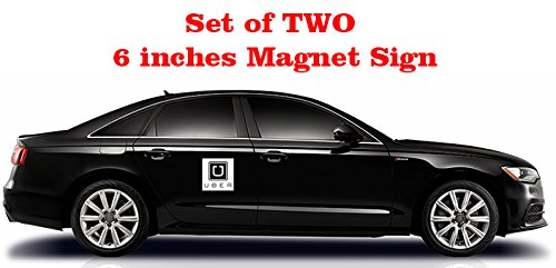 Bundle TWO 6 UBER Magnet Sign Nighttime Reflective Uber Sign Unisex Custom T Shirt