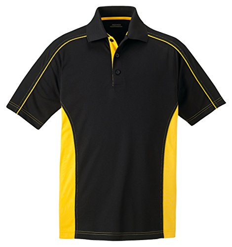 Ash City - Extreme Extreme Eperformance Men's Fuse Snag Protection Plus Polo, 5XL, Blk/CMPS Gld -