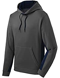 Sport-Wick Fleece Colorblock Hooded Pullover - Size XS-4XL
