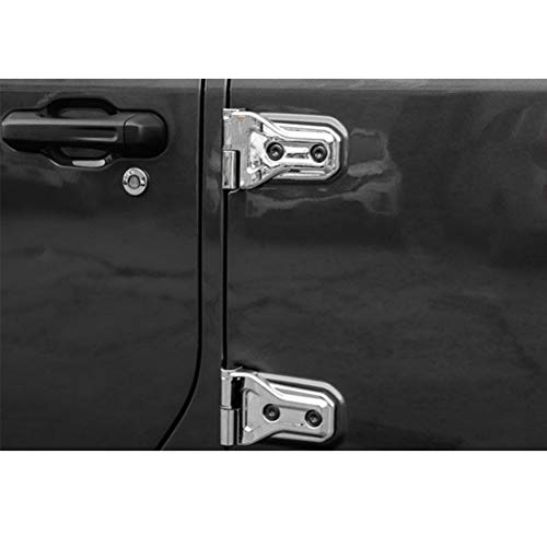 YOUNGERCAR Door Hinge Covers for 2018 2019 Jeep Wrangler JL 4 Door Cover 16pcs Exterior Molding Trim Chrome