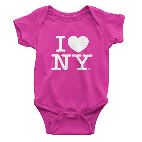 - I Love NY New York Baby Infant Screen Printed Heart Bodysuit Hot Pink Small 0.