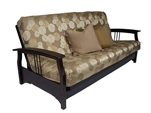Strata Furniture Fremont Black Walnut Full Wall Hugger Futon Frame (KD)