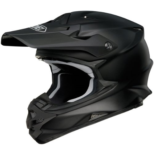 Shoei Solid VFX-W Off-Road/Dirt Bike Motorcycle Helmet - Matte Black / Small