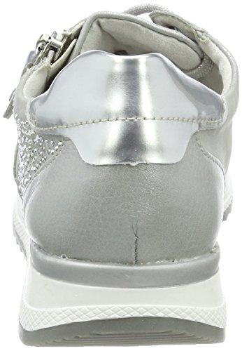 Argento argento Donna R7008 Da Basse Scarpe Remonte argento Ginnastica silber wvYxzHqzZ