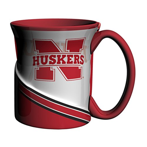 Coffee Mug Cornhuskers Nebraska - NCAA Nebraska Cornhuskers Sculpted Twist Mug, 18-ounce