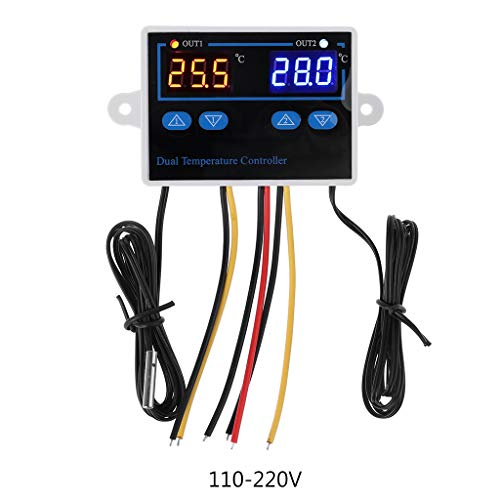 yangerous Dual Thermostat for Incubator,10A Digital Heating Cooling Temperature Controller,Digital Timer Controller