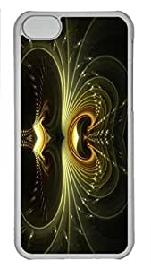 Case Cover for iPhone 5C Transparent Hard Plastic Skin Shell for iPhone 5C with Thoughts With A Twist Of Lemon