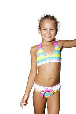 Amazon.com: Hello Kitty Stripe Kitty Triangle Bikini