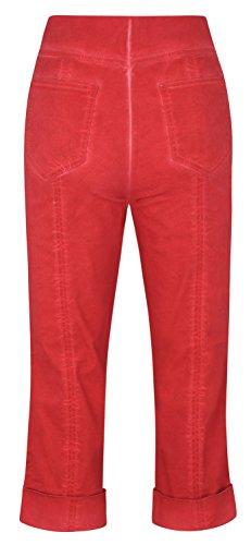 Para Mujer Capri Rojo Stehmann Pantalón ECqtnR