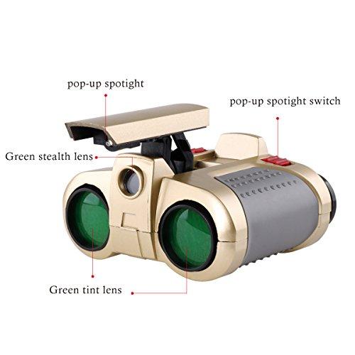 Freebily 4x30 Night Scope Binoculars Telescope with Pop-up Spotlight Fun Cool Toy Gift for Kids Boys Girls by Freebily (Image #4)
