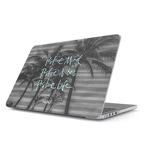 Glitbit Hard Case Cover Compatible with MacBook Pro 13 Inch Case Release 2016-2018 Model: A1989 / A1706 / A1708 with or Without Touch Bar Positive Life Love Good Vibes Only Palm Trees Inspirational