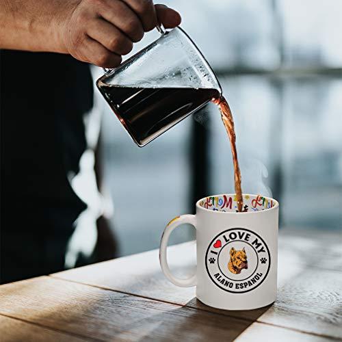 Ceramic Christmas Coffee Mug I Love My Alano Espanol Dog Style A Funny Tea Cup 9
