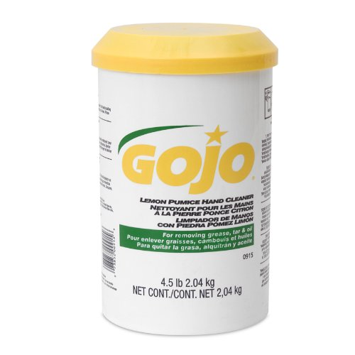 GOJO Crème-Style Hand Cleaner with Pumice, Lemon Scent, 4.5 Pounds Hand Cleaner Canister (Case of 6) - 0915-06 by Gojo (Image #1)