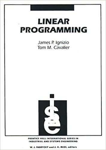 Linear programming james p ignizio tom m cavalier 9780131837577 linear programming 1st edition fandeluxe Image collections