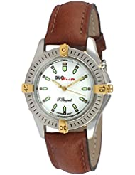 Peugeot Glow in the Dark Light up Watch with Classic Brown Leather Band Ideal for Camping or Outdoor Activity