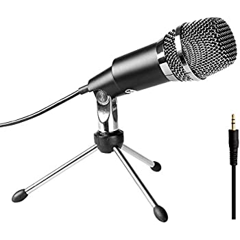 Microphone Condenser 3.5mm Fifine Plug in Microphones For Computer Recording ,Omnidirectional Microphone For Skype,YouTube,Google Voice Search, Games-K667