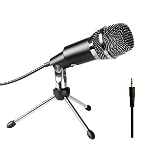 PC Microphone 3.5mm FIFINE Plug and Play Microphones for Computer Desktop Laptop Online Chat, Broadcast Microphone for Skype,YouTube,Google Voice Search, Games-K667