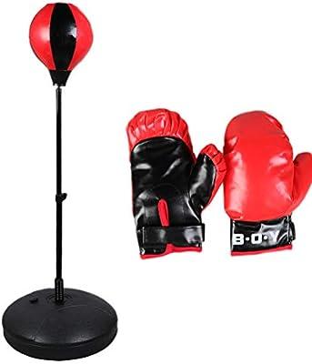 LIOOBO Set de Boxeo para Niños Saco de Boxeo Independiente con ...