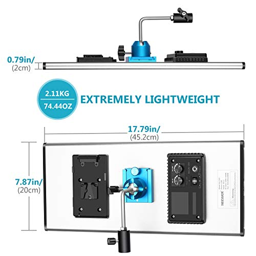 Neewer Dimmable LED Video Light with Metal Frame 1320 LED Beads 3200-5600K, 2829Lux/m, CRI 96+ DC Adapter/Battery Power Options for Studio Portrait Product Video Shooting (Battery Not Included)