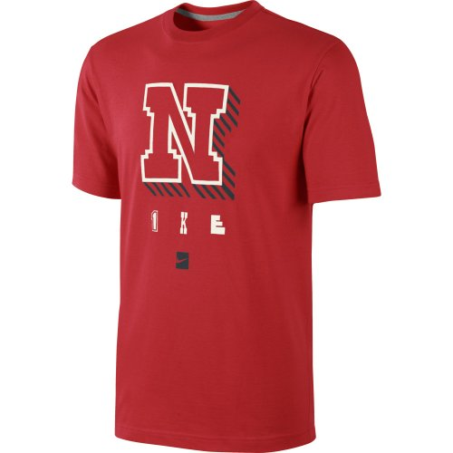 Nike Tee-N - Camiseta con manga corta para hombre Rojo / Gris oscuro / Negro