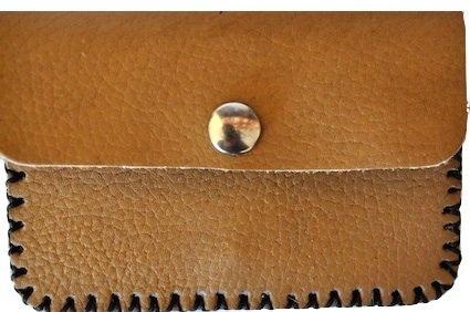 Apcom - Monedero de piel coco artesanal, color cuero: Amazon ...