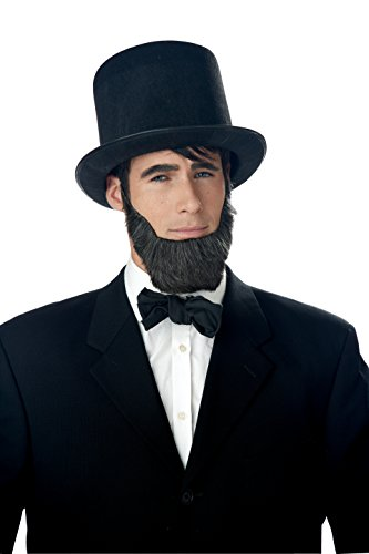 California Costumes Men's Honest Abe Beard Adult, Dark Brown, One Size