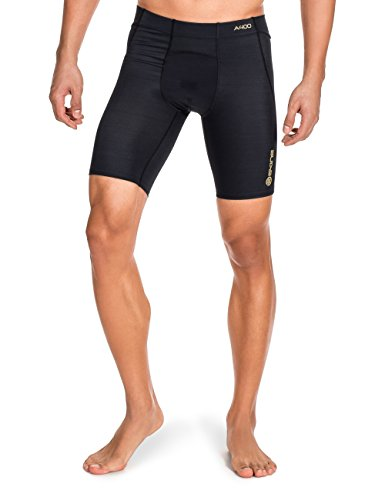 SKINS Men's A400 Compression Power Shorts, Black, Small by Skins