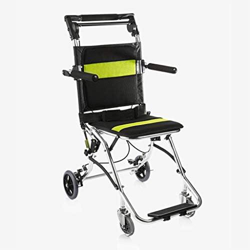 LXYSB Zusammenklappbarer Leichter Rollstuhl Stabile und Bequeme Aluminiumlegierung Handicapped Manual für ältere...