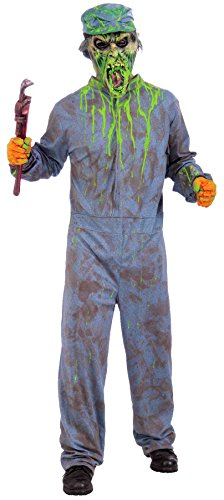 Forum Novelties Men's Biohazard Zombie Janitor Costume with Mask