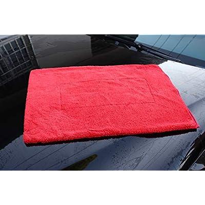 Maxshine 1000GSM Crazy Microfiber Drying Towel Series, Red, 50x70cm: Automotive