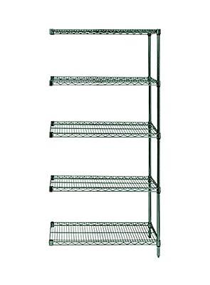 "Quantum Wire Shelving 5-Shelf Add-On Units Storage Rack Proform 18"" x 36"" x 86"""