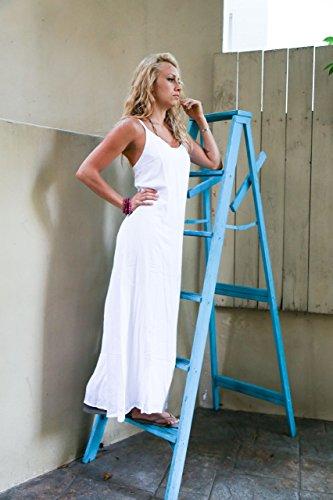para SIN Blanco Largo Sarongs Mujer en Forrado DEVOLUCIONES Color 1 Vestido World Blanco Veraniego IqY5wPOUP