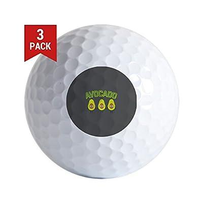 CafePress - Avocado - Golf Balls (3-Pack), Unique Printed Golf Balls
