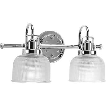 amazon co jp progress lighting p2991 15 2 light chrome bath light