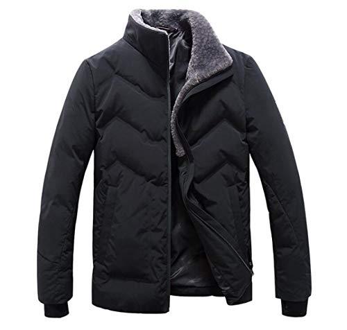 L Noir Taille Hommes Court Épais Zjexjj Veste D'hiver couleur x8PCn6qg