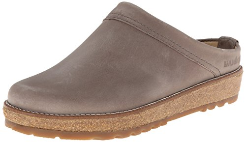 Haflinger Leather Shoes (Haflinger Women's LC View Mule, Grey, 40 EU/9 M)