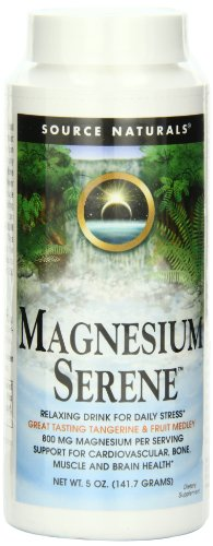 Source Naturals Serene Science Magnesium Serene Tangerince Flavored, Peaceful Body, 5 Ounces