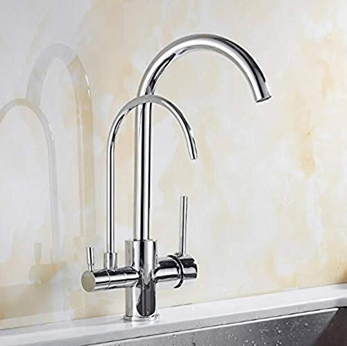 Sink Taps Hot And Cold Faucet Brass Kithchen Faucet Hot And Cold Deck Mounted Kitchen Three In One Water Purifier Faucet