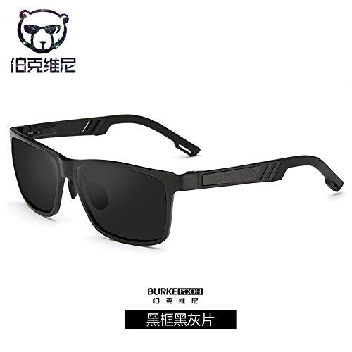 aluminio y conducción Gray de equitación de Black de chip magnesio sol blue sol caja espejo gafas Black plata Frame la de gafas masculina KOMNY polarizados moda de Macho de de wCOqnTC7