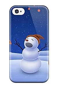 Fashion Protective Cool Xmas Song Case Cover For Iphone 4/4s