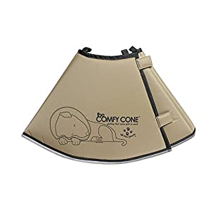 The Comfy Cone Pet Recovery Collar by All Four Paws, Medium Extra-Long, Tan,Medium-Extra Long 30cm Click on image for further info.