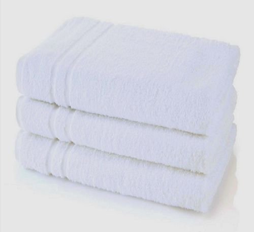 USA_Best_Seller 3 New Hotel White Soft 22x44 Bath Towels 100% Cotton Soft Absorbent Resort Gym Spa Rental Properties Rooms Bathroom