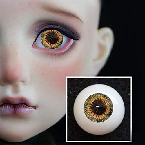 アリスの人形屋眼球 12 ミリメートル 16 ミリメートル 18 ミリメートル 20 ミリメートル 14 ミリメートル bjd 目 orange 色人形 bjd 人形おもちゃ sd 眼球 1/3 1/4 1/6 1/8 アクリル目
